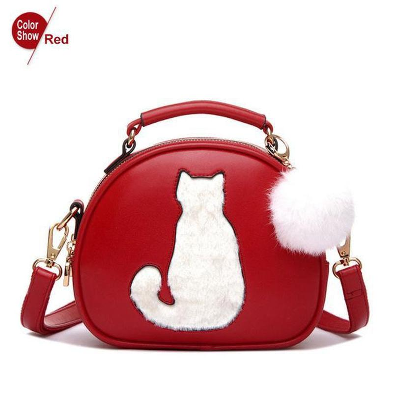 Classy Fur Ball Crossbody Cat Bag