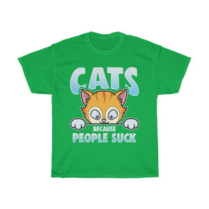 Cats because people suck - Unisex Heavy Cotton Tee - AU