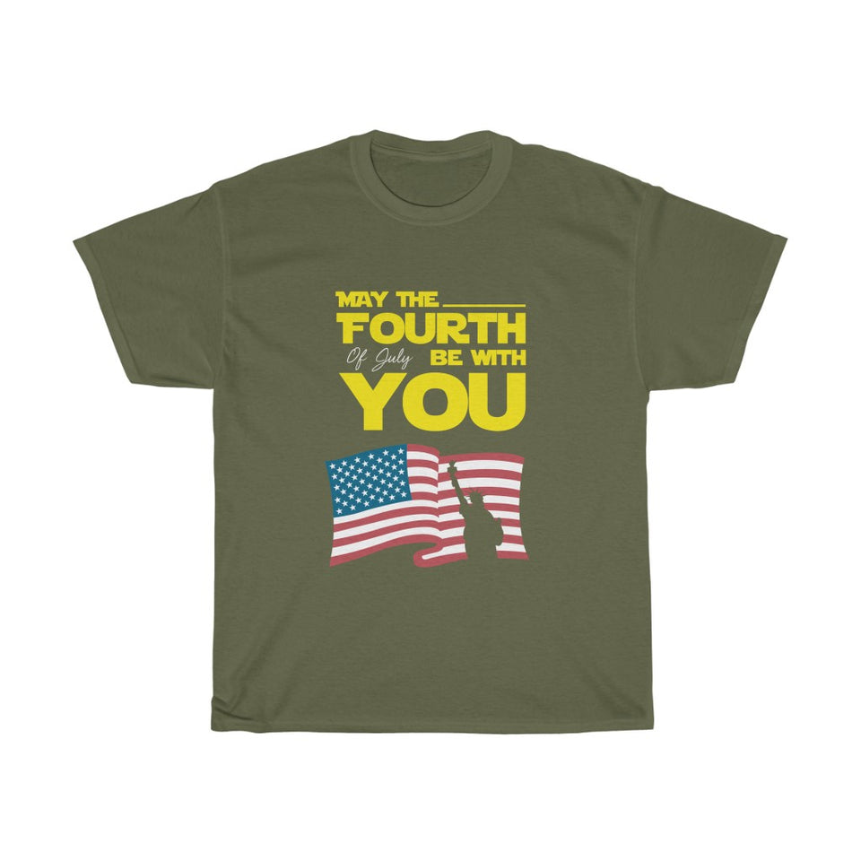 May the 4th of July be with you – Unisex Heavy Cotton Tee - US