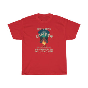 Never mess with a Camper - Unisex Heavy Cotton Tee - Fulfilled in Czech Republic