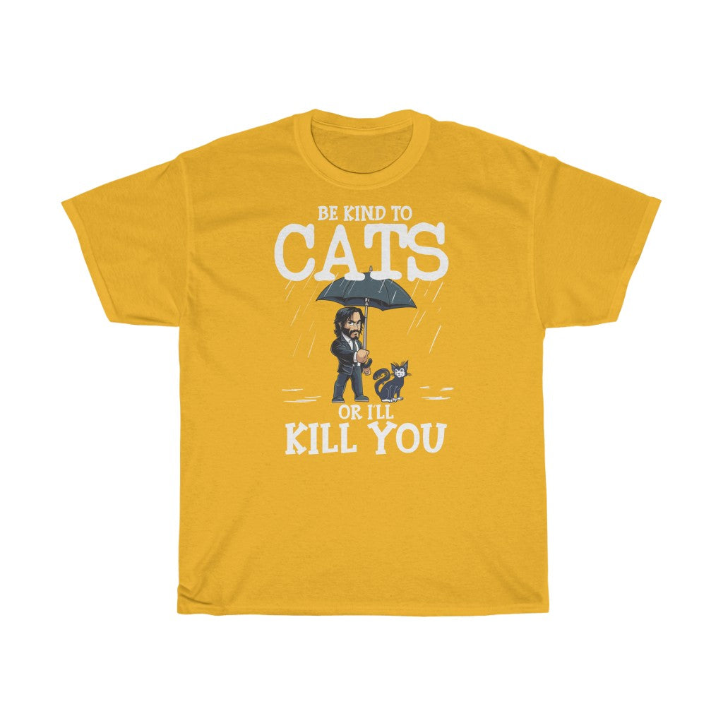 Be kind to cats - Unisex Heavy Cotton Tee - CZ