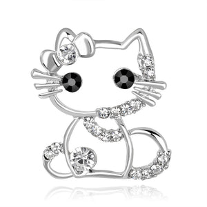 Gold/Silver Cute Cat Brooch & Pins