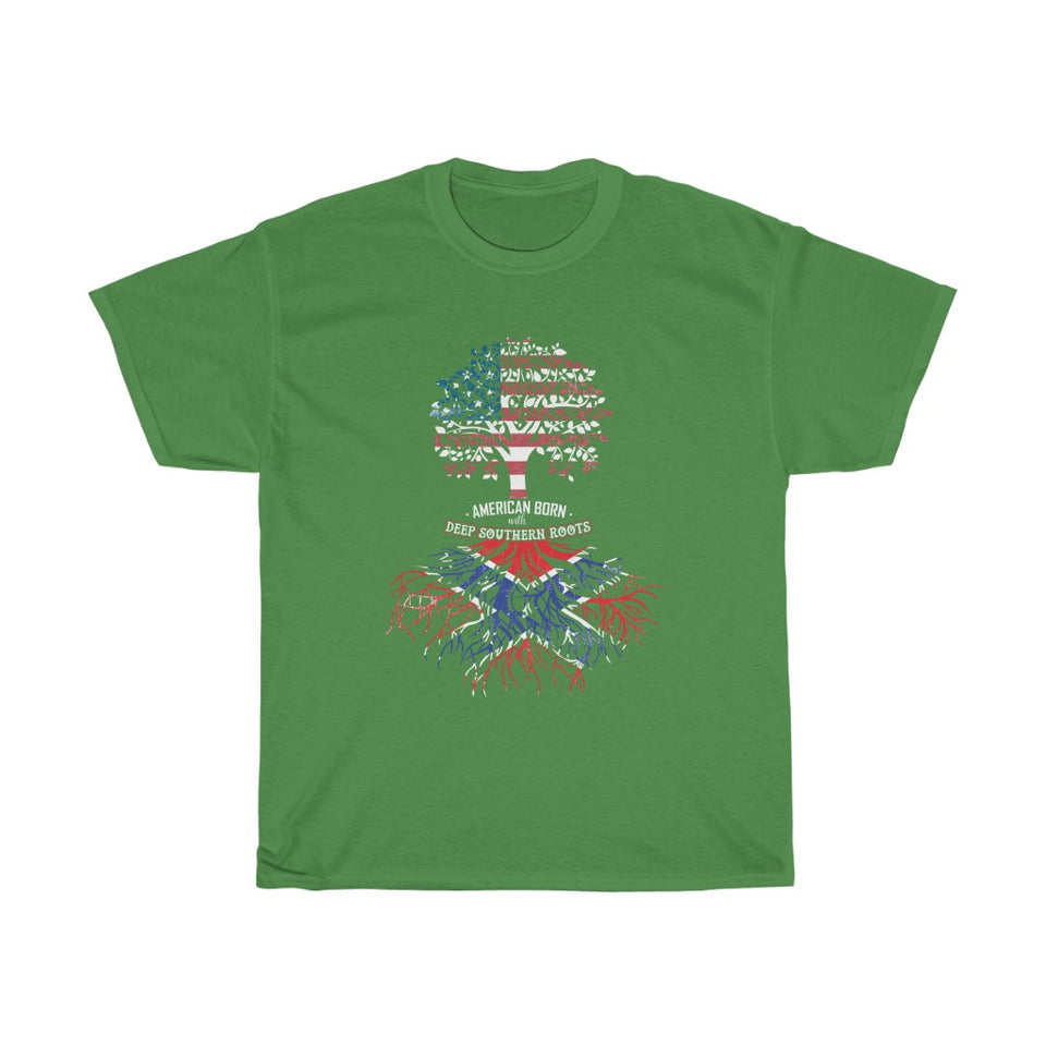 American born deep south roots – Unisex Heavy Cotton Tee - US