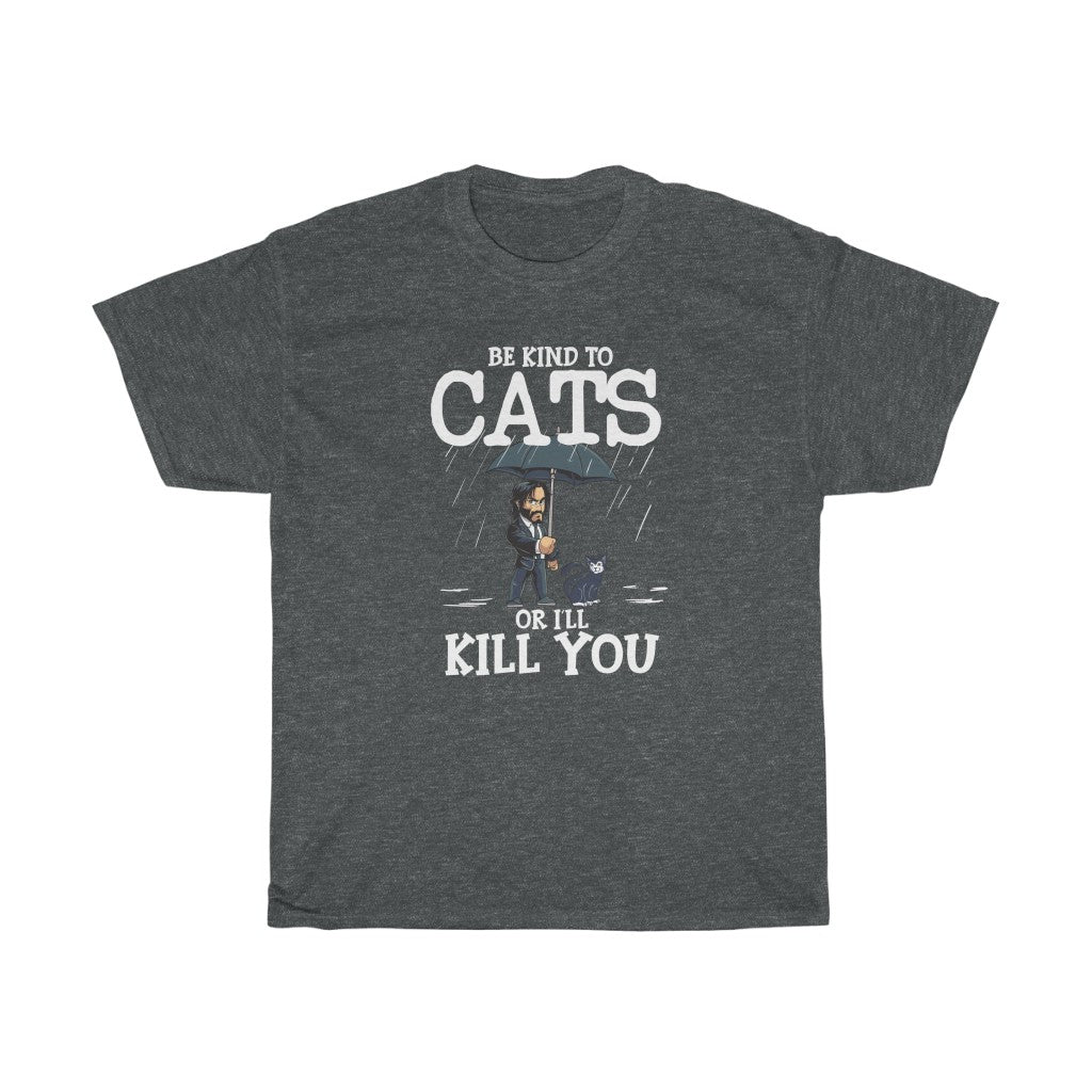 Be kind to cats - Unisex Heavy Cotton Tee - CA
