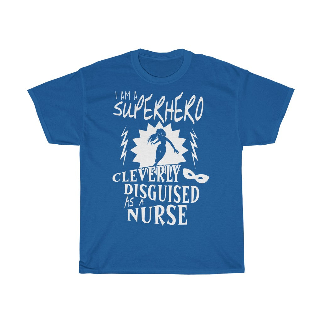 Superhero nurse - Unisex Heavy Cotton Tee - Fulfilled in United Kingdom