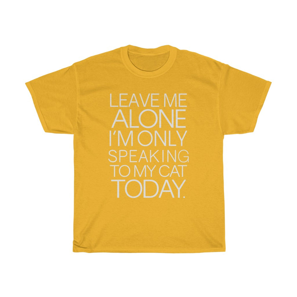 Leave me alone - Unisex Heavy Cotton Tee - Fulfilled in United Kingdom