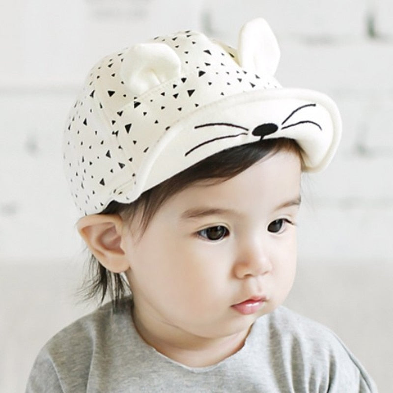 Kids Cute Cat Baseball Cap