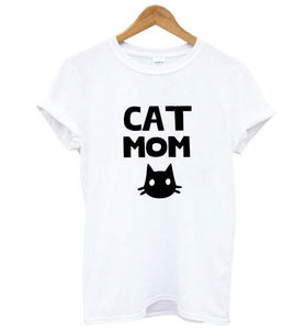 Cat Mom Tshirt (Check the size chart carefully before ordering)