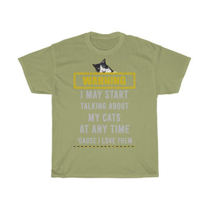 Talking about my cats - Unisex Heavy Cotton Tee - Fulfilled in Germany