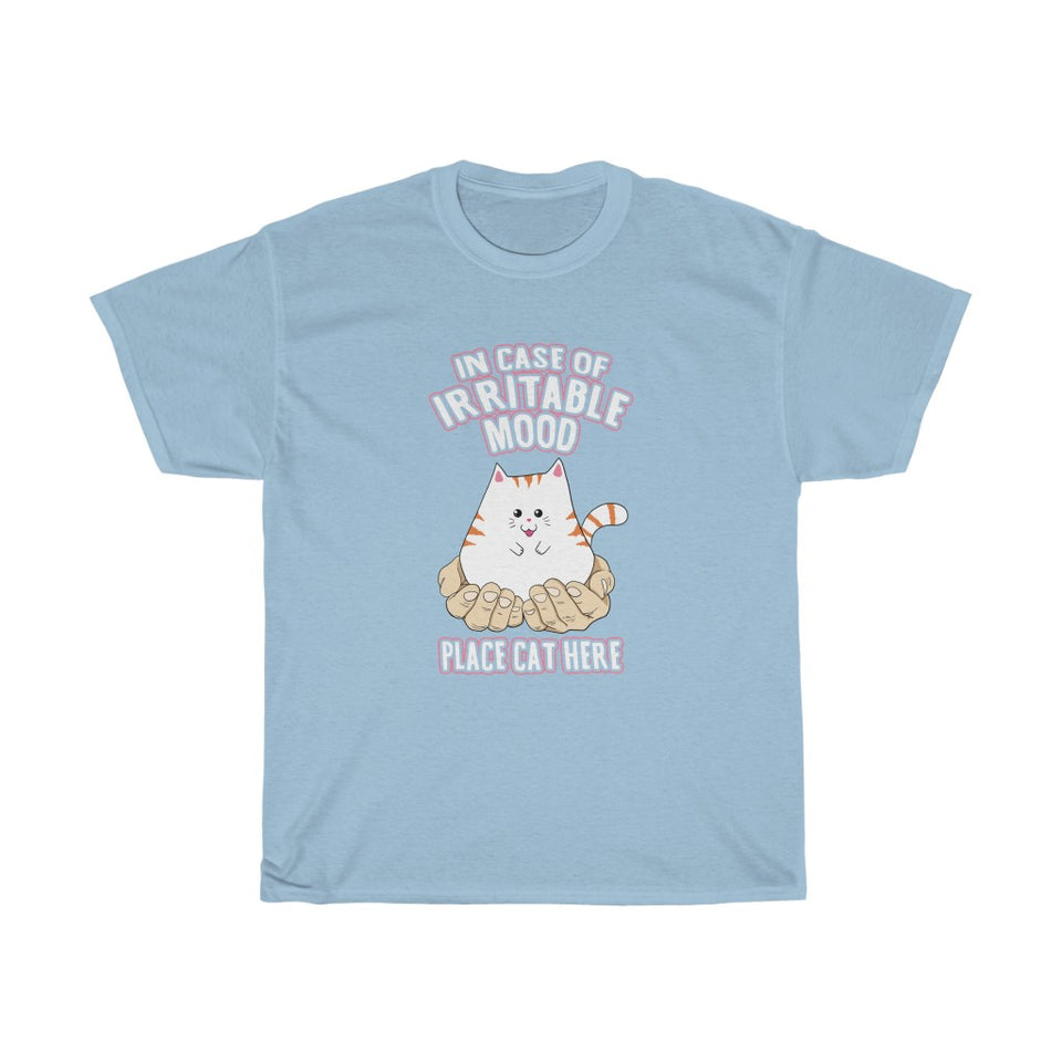 Place Cat Here - Unisex Heavy Cotton Tee - Fulfilled in the United States