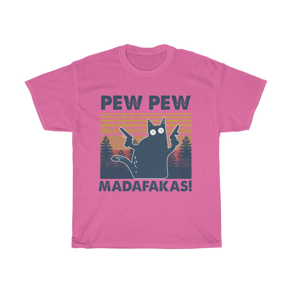 Pew pew - Unisex Heavy Cotton Tee - Fulfilled in United Kingdom
