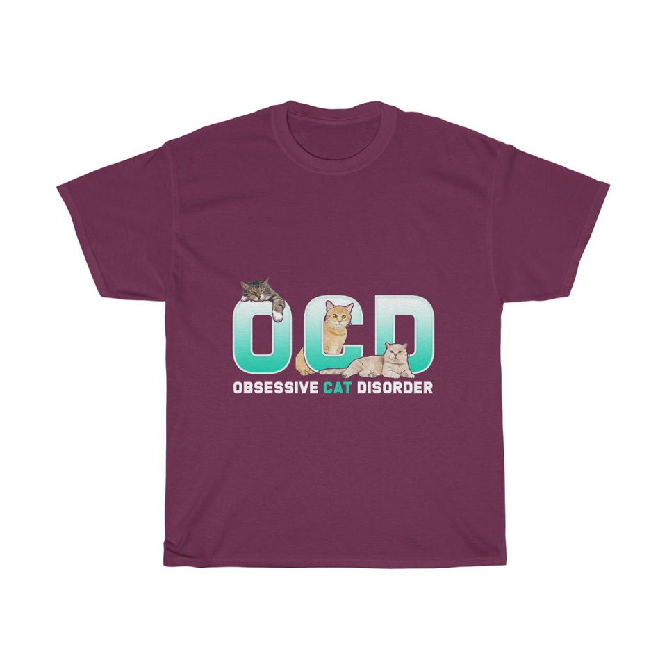 OCD Cat v2 - Unisex Heavy Cotton Tee - Fulfilled in the United States