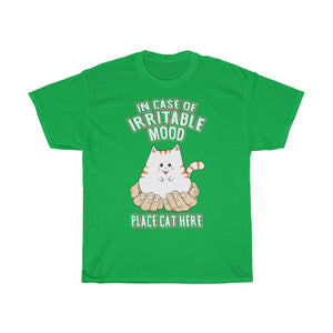 Place Cat Here - Unisex Heavy Cotton Tee - Fulfilled in United Kingdom