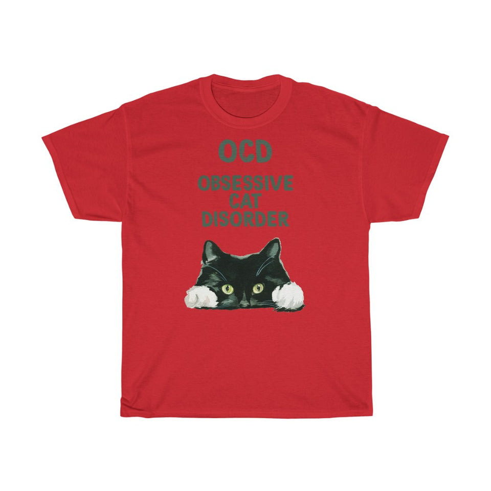 OCD Cat - Unisex Heavy Cotton Tee - CZ