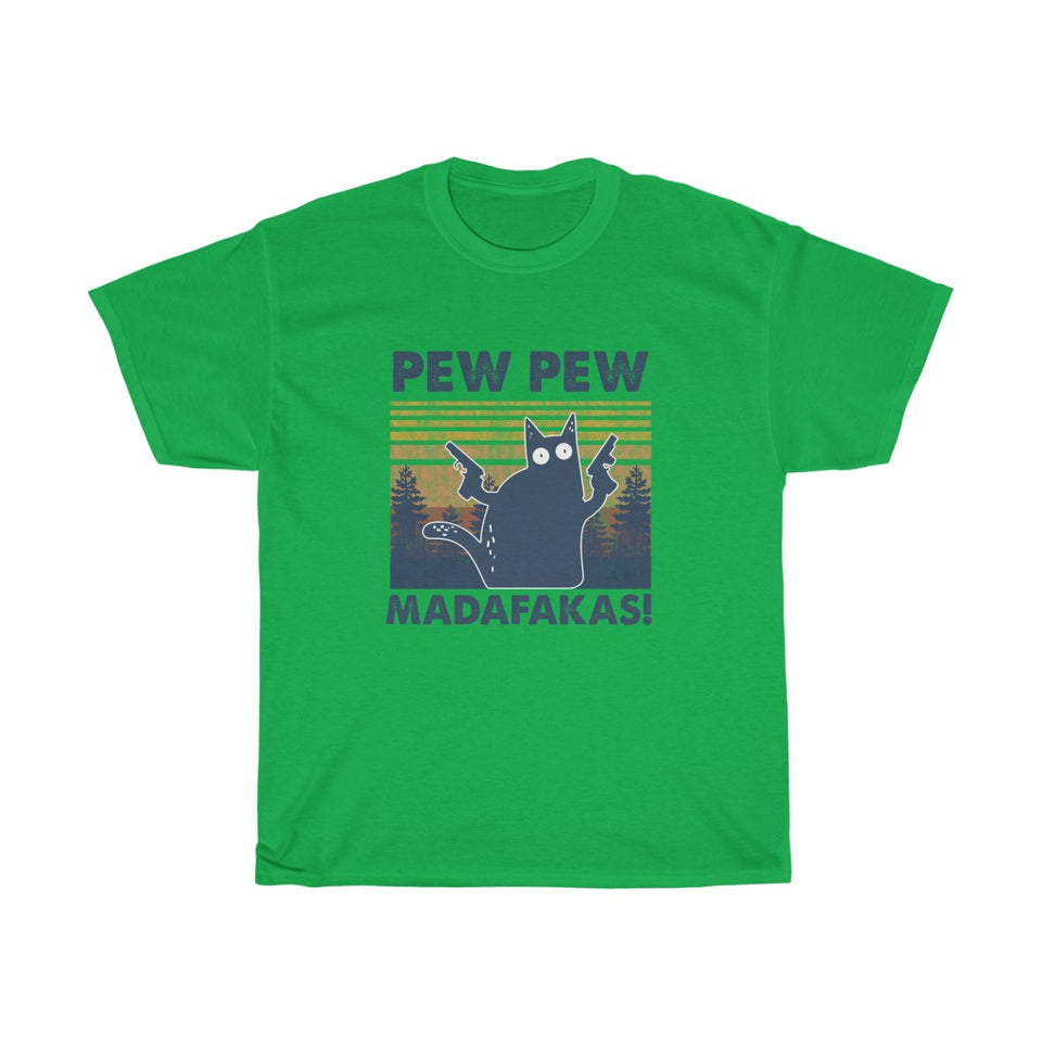 Pew pew - Unisex Heavy Cotton Tee - Fulfilled in Canada