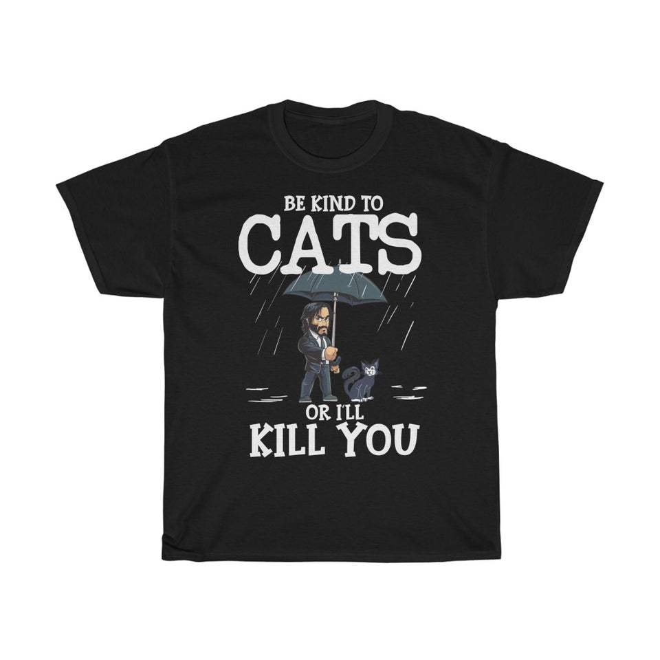 Be kind to cats - Unisex Heavy Cotton Tee - GE