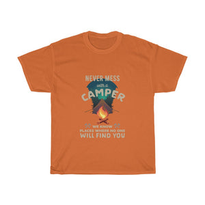 Never mess with a Camper - Unisex Heavy Cotton Tee - Fulfilled in Australia
