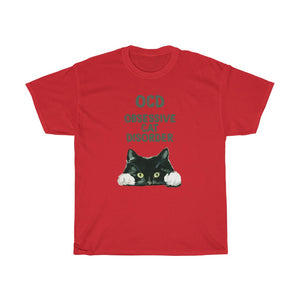 OCD Cat - Unisex Heavy Cotton Tee - Fulfilled in Canada