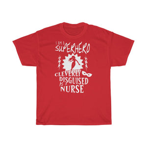 Superhero nurse - Unisex Heavy Cotton Tee - Fulfilled in Czech Republic