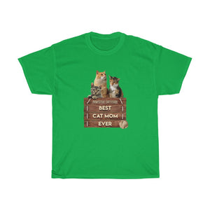 Best Cat Mom Ever - Unisex Heavy Cotton Tee - Fulfilled in Canada