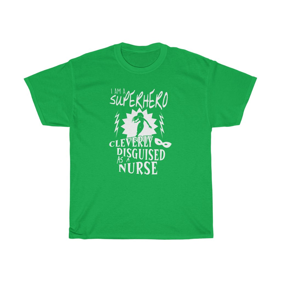 Superhero nurse - Unisex Heavy Cotton Tee - Fulfilled in Canada