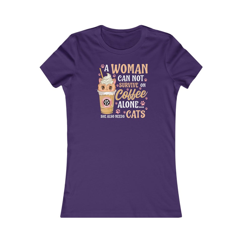 A woman needs coffee and cats - Women's Favorite Tee - CZ