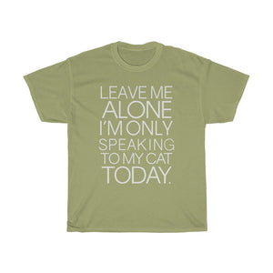 Leave me alone - Unisex Heavy Cotton Tee - Fulfilled in Germany