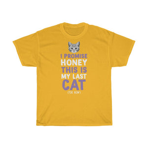 My last cat - Unisex Heavy Cotton Tee - Fulfilled in Czech Republic