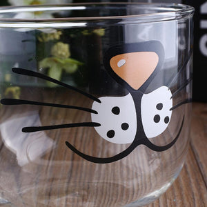 Cat face glass cup 550ML