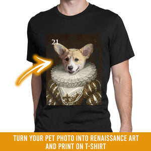 Renaissance historical F-21 female pet portrait