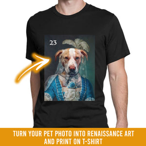 Renaissance historical F-23 female pet portrait