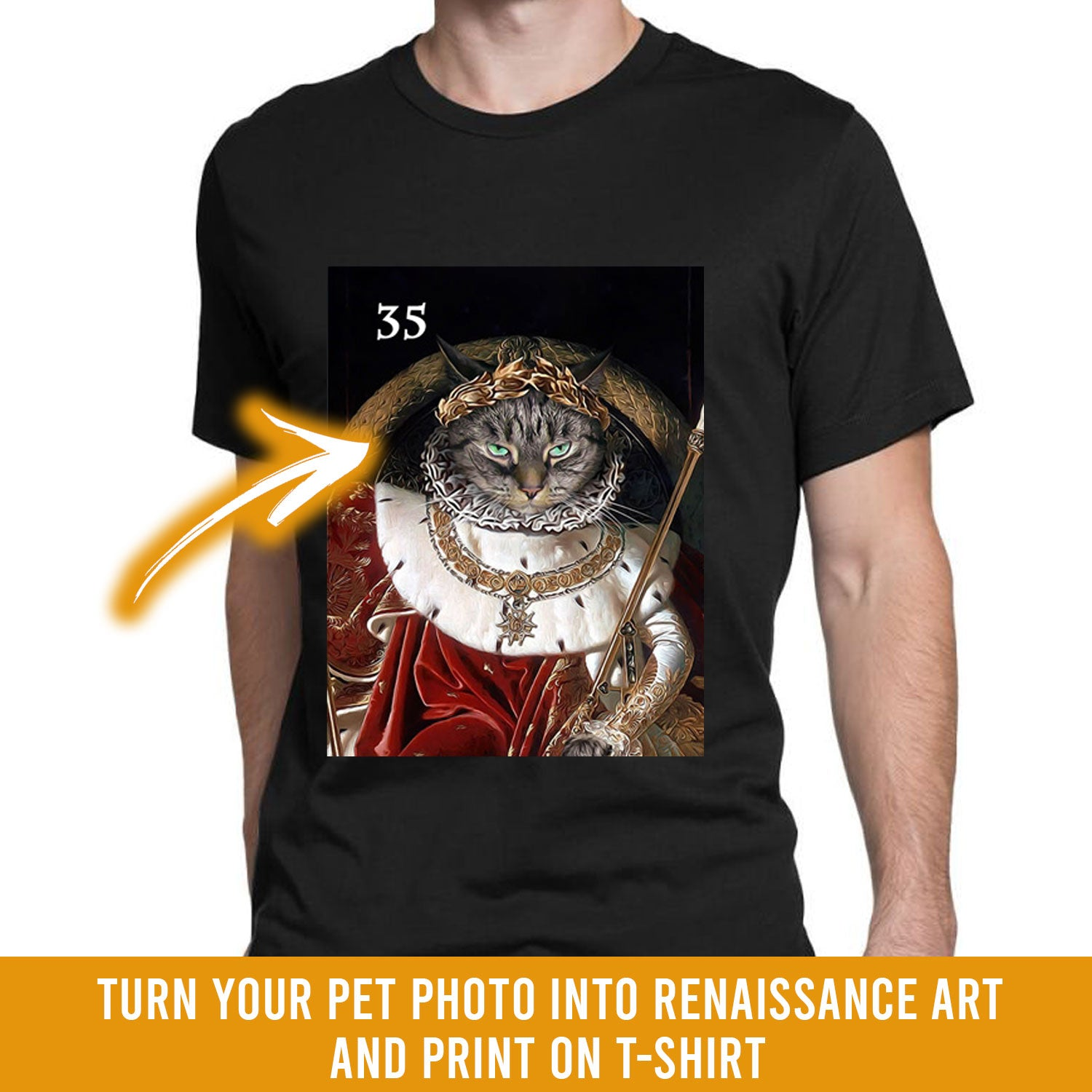 Renaissance historical M-35 male pet portrait