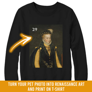 Renaissance historical F-29 female pet portrait