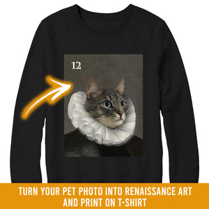 Renaissance historical M-12 male pet portrait