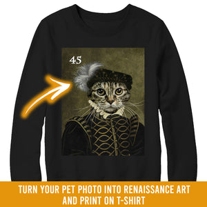Renaissance historical M-45 male pet portrait