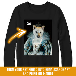 Renaissance historical F-26 female pet portrait