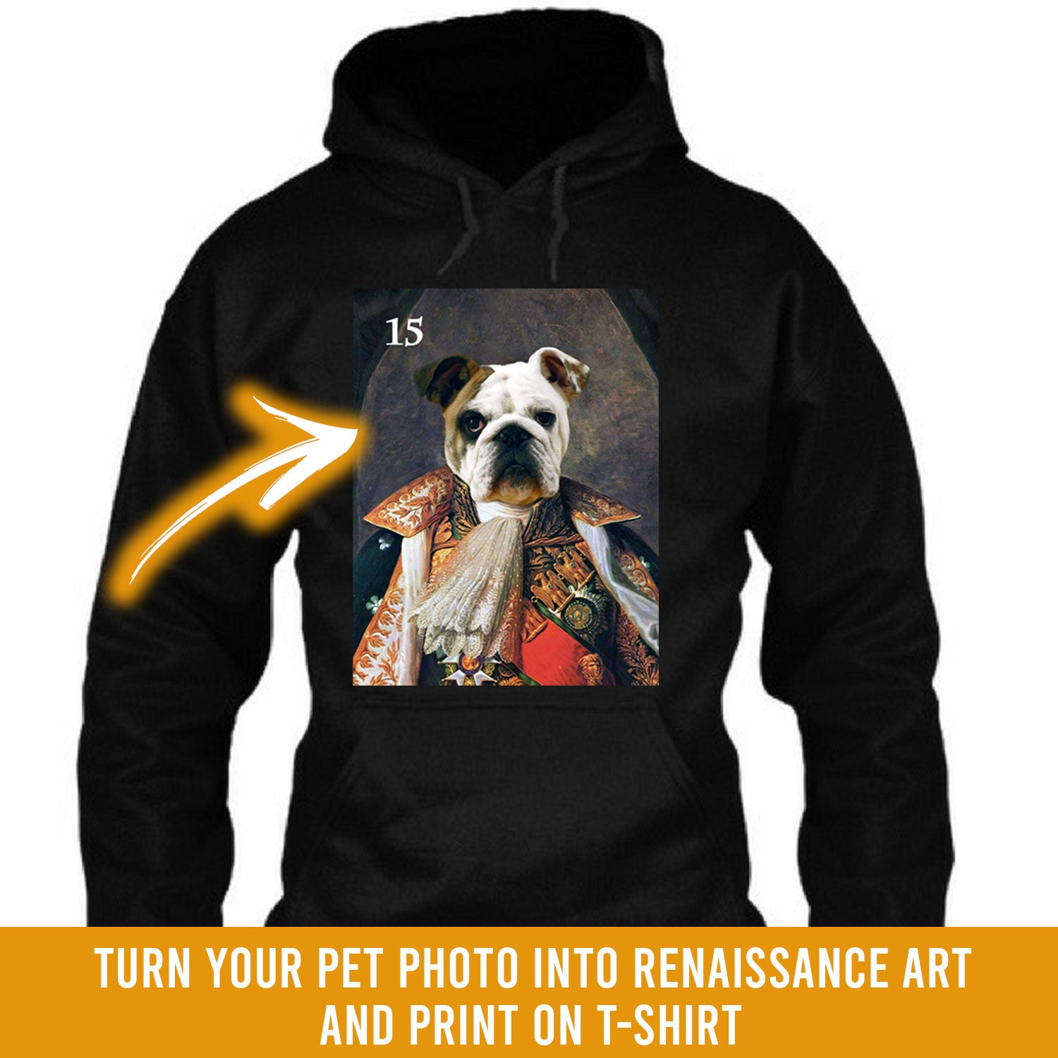 Renaissance historical M-15 male pet portrait