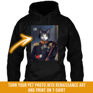 Renaissance historical M-18 male pet portrait