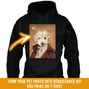 Renaissance historical M-43 male pet portrait