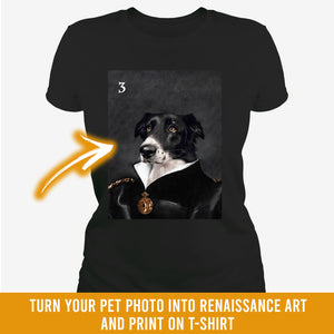 Renaissance historical F-03 female pet portrait