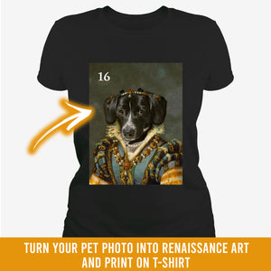 Renaissance historical F-16 female pet portrait
