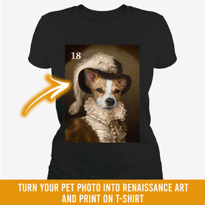 Renaissance historical F-18 female pet portrait