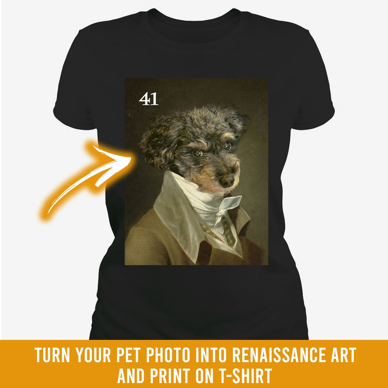 Renaissance historical M-41 male pet portrait