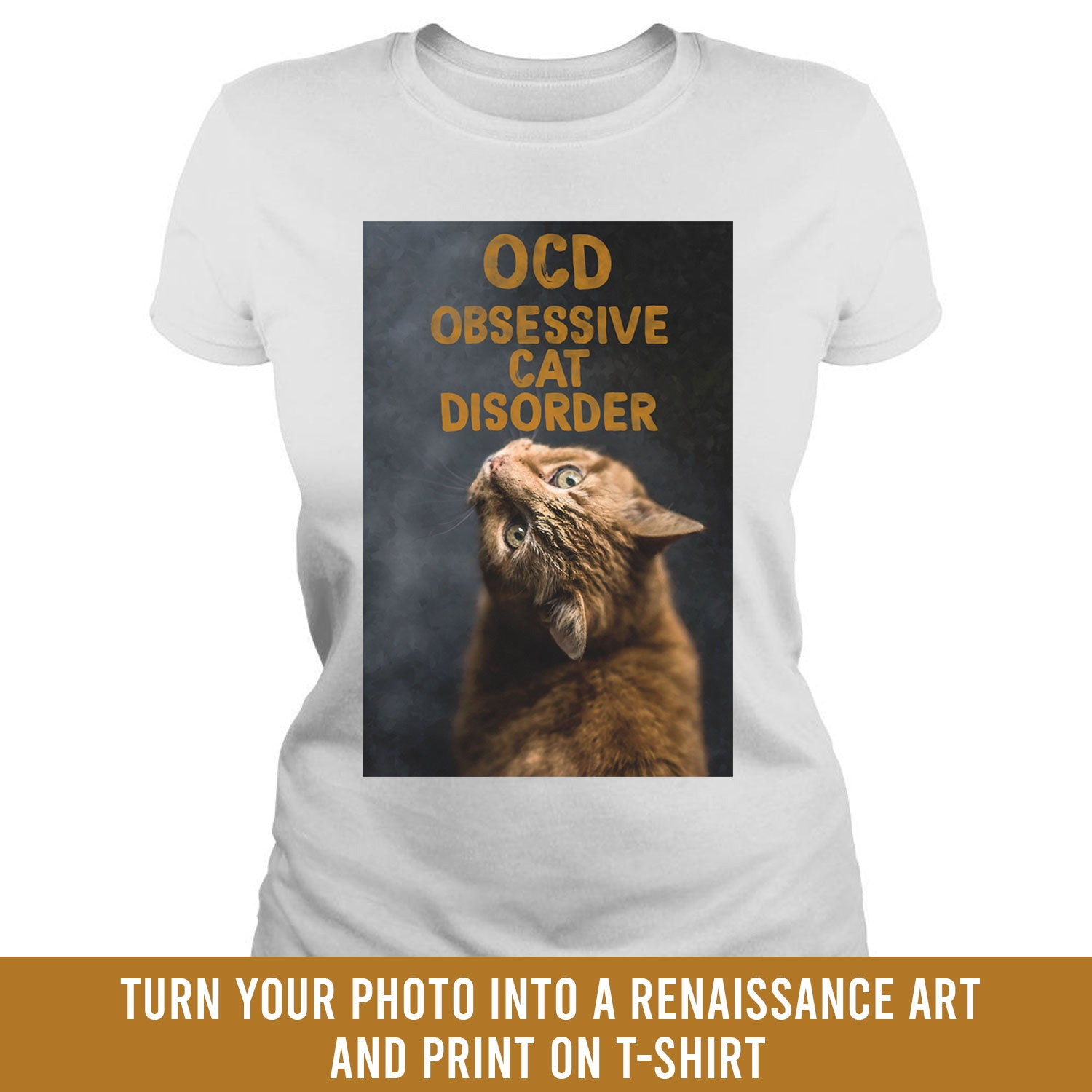 Renaissance painting OCD Cat - custom t-shirt