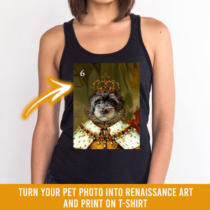 Renaissance historical F-06 female pet portrait