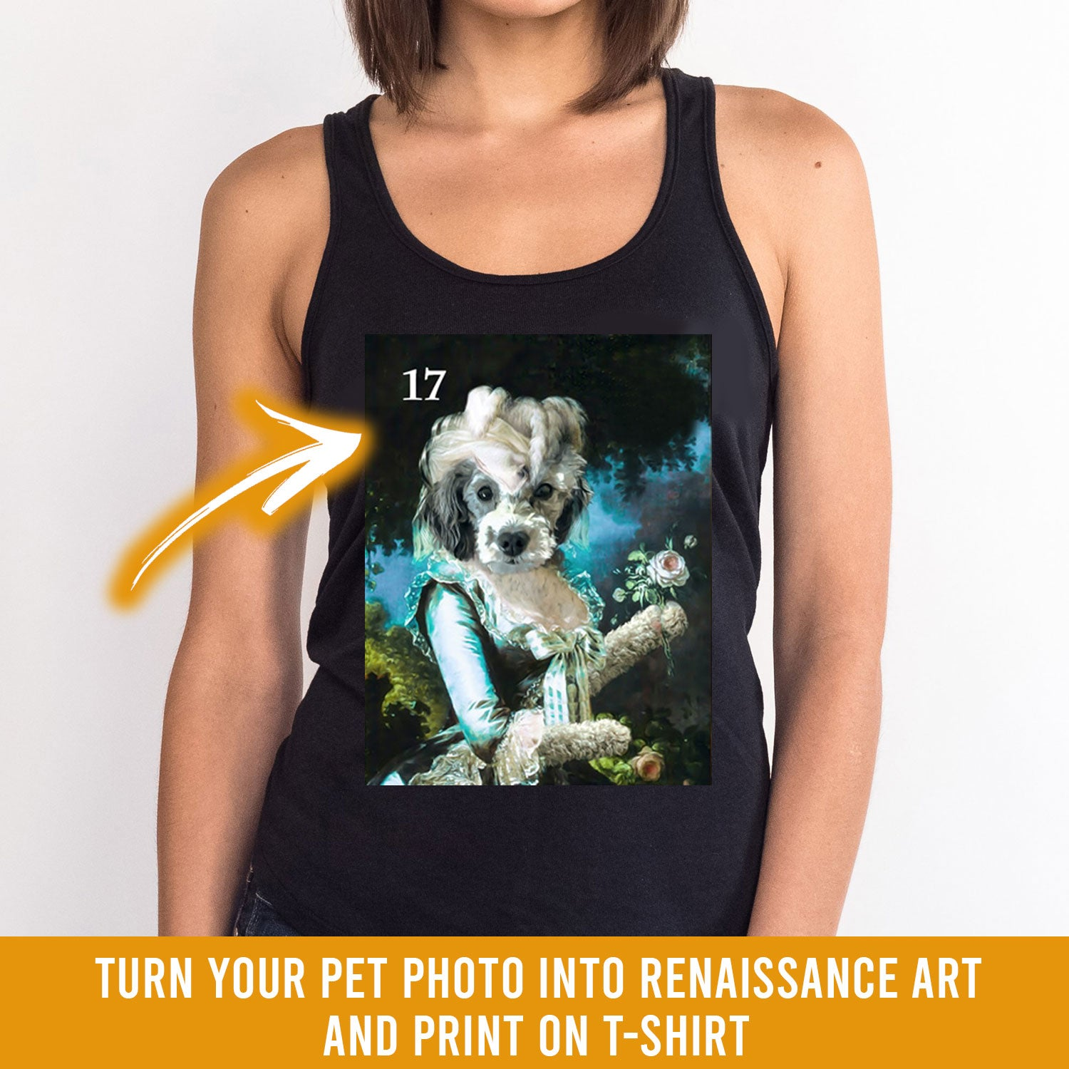 Renaissance historical F-17 female pet portrait