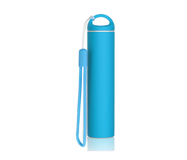 Blue 'Soft Touch' Coated PowerBank - Mobile Power Charger 2600mAh External Battery Power Bank