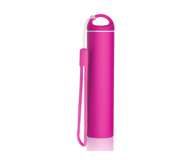 Pink 'Soft Touch' Coated PowerBank - Mobile Power Charger 2600mAh External Battery Power Bank