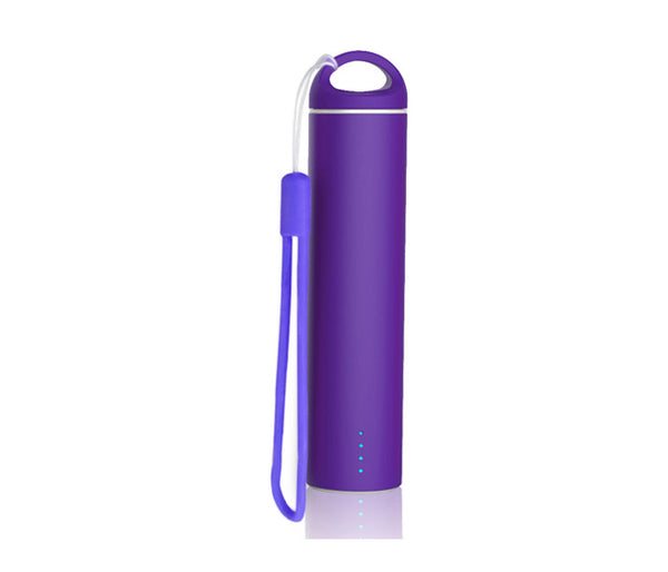 Purple 'Soft Touch' Coated PowerBank - Mobile Power Charger 2600mAh External Battery Power Bank