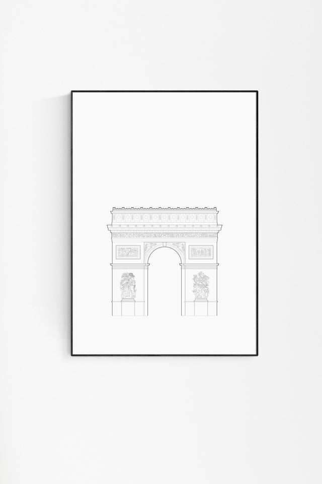 Arc de Triomphe drawing by Studio Romuu